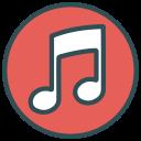 note, shape, circle, music, brand icon