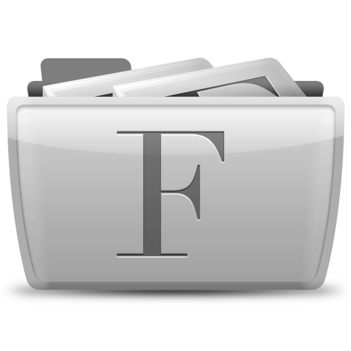 font, collection icon