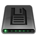 disk, save, floppy, dark, drive icon