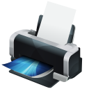 hp, printer, print icon