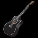 instrument, black, guitar icon