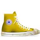 yellow, dirty, converse icon