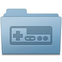 Game Folder Blue icon