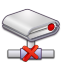 network,drive,error icon