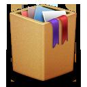 cardbox, recycle bin, full, trash, garbage icon