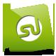 Green, Stumbleupon icon