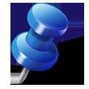 drawingpin, gps, blue, location, pushpin, push pin icon