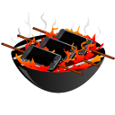 apple, bbq, barbeque, cell phone, iphone, mobile phone, grill, smartphone icon
