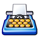 package, pack, word processing icon