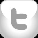 twitter, grey icon