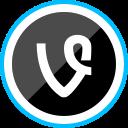 media, corporate, vine, social, logo icon