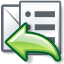 replylist, mail icon