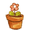 Flower, Pot icon