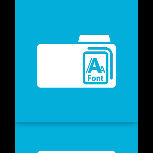 mirror, font icon