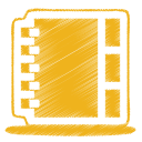 yellow address book icon