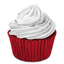 desert, red, cupcake icon