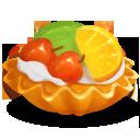 cake, fruit, food icon