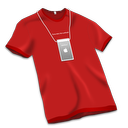 Apple Store Tshirt Red icon
