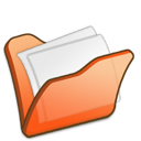 Folder, Mydocuments, Orange icon