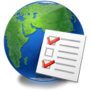 global, world, checklist, earth, service icon