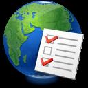 global, world, checklist, earth, service icon