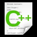 x, text, c++src icon