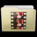 beige folder movies icon
