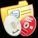 dvdr, folder, cdr, yellow icon
