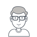 glasses, person, user, male, man, avatar icon