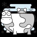 farm, christmas, cow, milking, maid icon