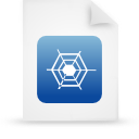 file, document, blue, paper icon