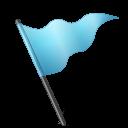 Map Marker Flag 5 Azure icon