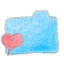 blue, folder, favorite icon