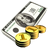 cash, currency, money, coin icon