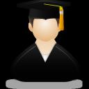 graduate, male icon