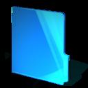 blue,closed,folder icon