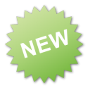 label, new, green icon