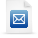 document, file, paper, blue icon