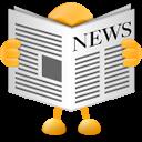 newspaper, headline, news icon