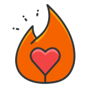 ember, social, tinder, media, network icon