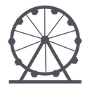 amusement, park, holiday, theme, wheel icon