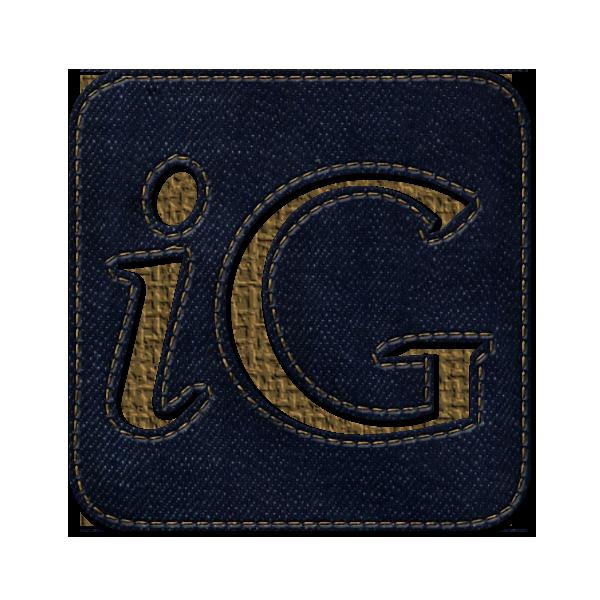 social, jean, igooglr, square, logo, denim icon