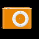 shuffle, orange, ipod icon