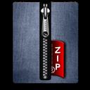 Blue, Silver, Zip icon