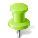 pushpin, chartreuse, mapmarker icon