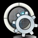 radar, settings, gear icon