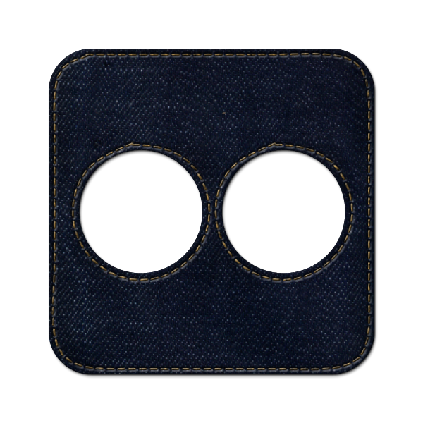 flickr, denim, social, square, jean icon