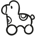 Horse hand drawn outline icon