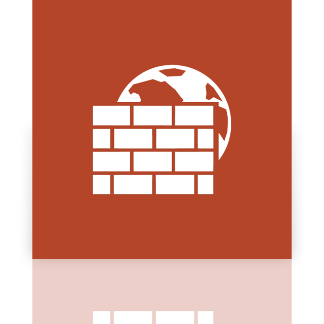 mirror, window, firewall icon
