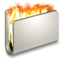 burn, fire, folder icon